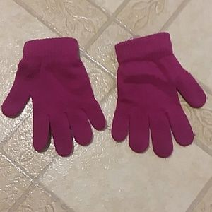 Kids gloves, and hat